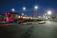 Multiple-unit train shed for technical maintenance of DESIRO electric trains