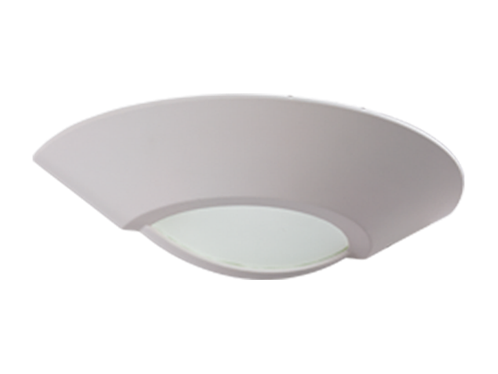 Photo PLW 001 Wall-mounted plaster luminaire with a matte diffuser