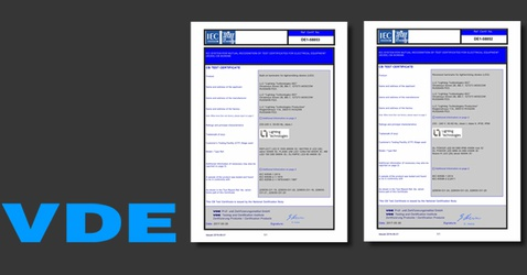 Lighting Technologies VDE certificates
