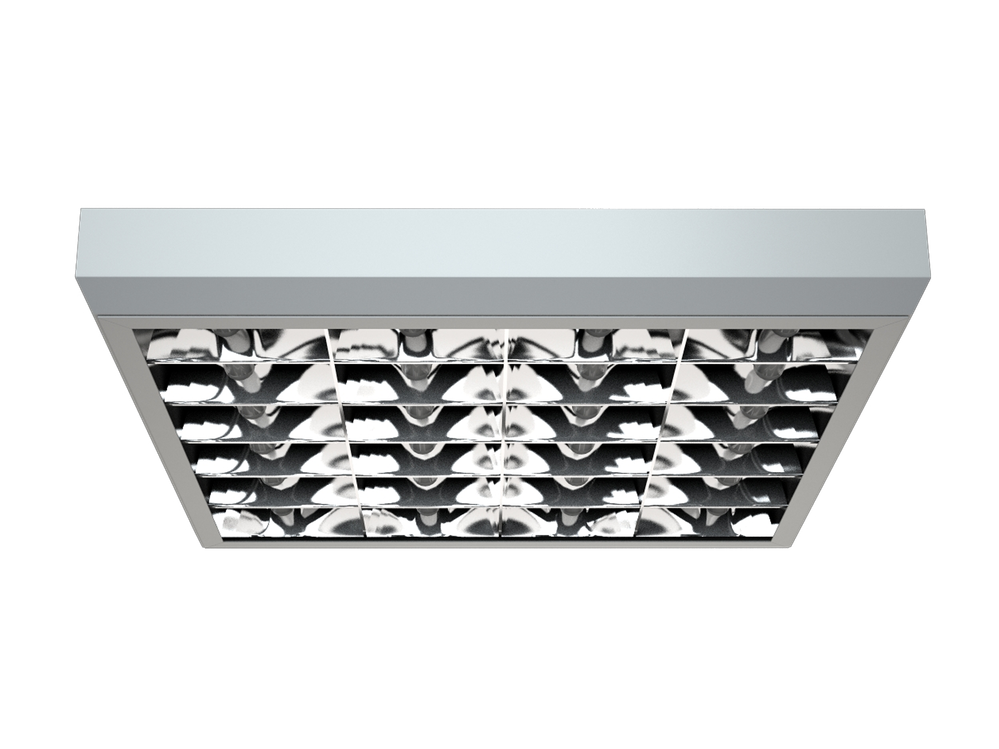 Photo PRBLUX/S Luminaires with a double specular parabolic louver