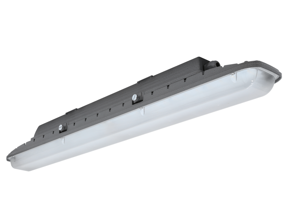 Photo SLICK LED G2 Linear luminaires with IP-protection.