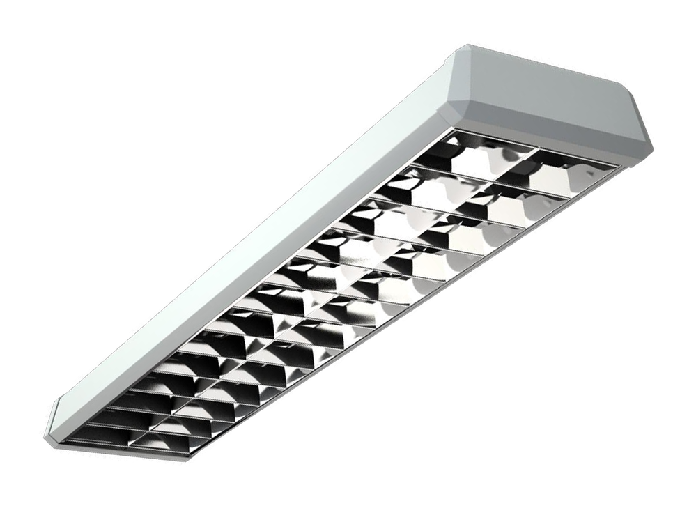 Photo TOP Luminaires with a specular parabolic louver
