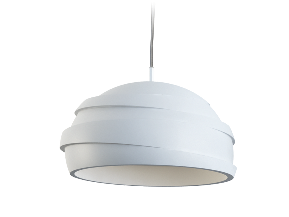 Photo COIL Suspended plaster luminaire